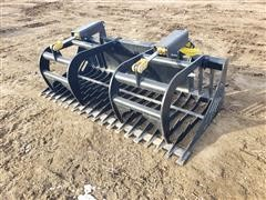 2020 Mid-State 6' Wide Rock/Brush Grapple Skid Steer Attachment
