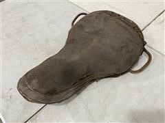 Early 1900's Harley Davidson /Indian Vintage Leather Motorcycle Seat