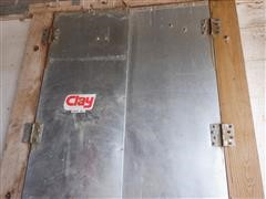 Clay Galvanized Clad Milk Barn Doors