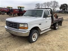 1996 Ford F250 4x4 Pickup W/Bale Bed