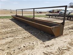 2021 Macksteel 30' Fenceline Steel Feed Bunk
