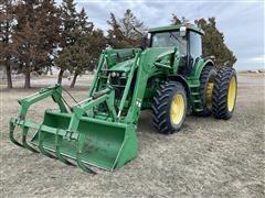 2004 John Deere 7820 MFWD Tractor W/Loader