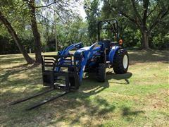 2011 New Holland Boomer 35 MFWD Tractor W/Rotary Shredder