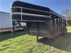 1992 Kiefer Built T/A Livestock Trailer