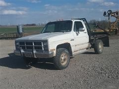 1984 GMC 3500 4x4 Flatbed Pickup