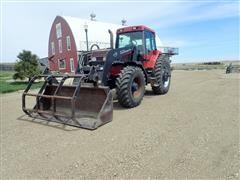 1996 Case IH 7210 MFWD Tractor W/Miller Loader