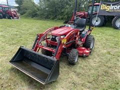 2017 Mahindra EMax 25NH 4WD Compact Utility Tractor W/Loader & Mower