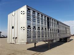 1997 Barrett T/A Aluminum Livestock Trailer