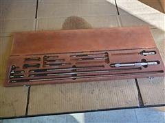 Starrett 124 & 124C Solid-Rod Inside Micrometer Set