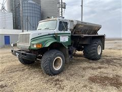 1994 International 4900 Floater Spreader Truck W/New Leader Stainless Steel Spreader Box
