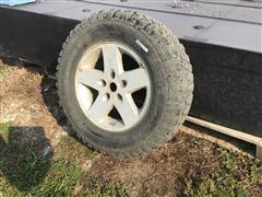 BF Goodrich LT255/75R17 Tire & Rim