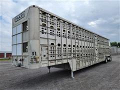 2009 Wilson PSDCL-402P 53' T/A Aluminum Hog Pot Livestock Trailer