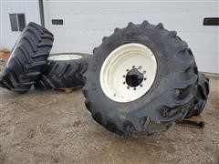 Goodyear DT820 Super Traction Radial RoGator Floater Tires & Rims