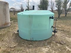1550 Gallon Poly Storage Tank