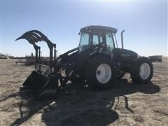 2002 New Holland TV140 4WD Bi-Directional Tractor W/Loader & Grapple