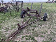 Shop Built Single Round Bale Cart