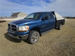 2006 Dodge RAM 2500 Big Horn 4x4 Crew Cab Flatbed Pickup