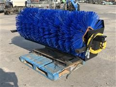 """Heavy Duty 76"""" Angled Broom Skid Steer Attachment"""
