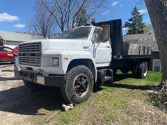 1985 Ford F700 4X2 Flatbed Dump Truck