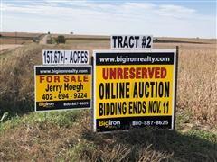 Tract 2:  157.67+/- Acres Hamilton County, NE