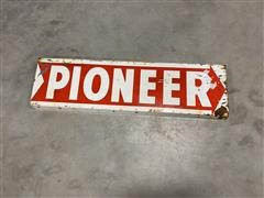 Pioneer Double Sided Vintage Metal Sign