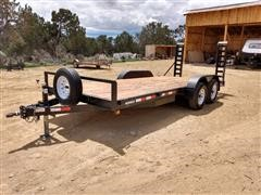 2017 Hiebco T/A Flatbed Trailer