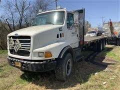 1997 Ford Louisville LT9500 T/A Flatbed Truck