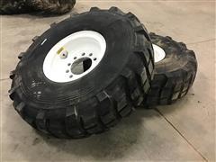 Michelin X 16.00R20 Tires On 10-Bolt Rims