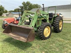 1984 John Deere 1650 MFWD Tractor W/Loader