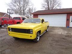 1977 Chevrolet 2 Door Pickup W/Chopped Cab W/Air Lift Suspension