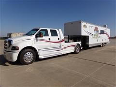 2009 Ford F750 S/A Crew Cab Custom Truck Tractor & 2010 DooLittle 40' Tri/A Enclosed Bar-B-Que Competition Trailer