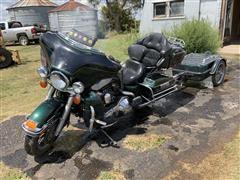 1999 Harley Davidson FLHTCUI UL CLSC EL Motorcycle & Trailer