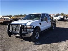 2010 Ford F250XLT 4x4 Crew Cab Flatbed Pickup