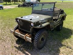 1943 Willy's MB 1/4 Ton 4x4 Military Jeep