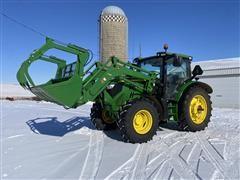 2013 John Deere 6125R MFWD Tractor W/H340 John Deere Loader