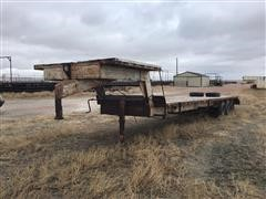 1985 Homemade Tri/A Flatbed Trailer