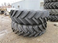 Mitas HC3000 520/85R42CFO Tires On 10 Bolt Rims