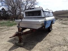 1999 Homemade 7X14 Pickup Trailer W/Topper & Toolbox