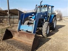 1998 New Holland TS110 MFWD Tractor & Loader