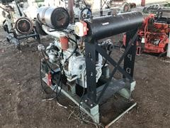 Daewoo 6-Cyl Diesel Power Unit On Stand (NON-OPERATIONAL)