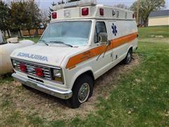 1987 Ford Econoline Super 350 Ambulance Van