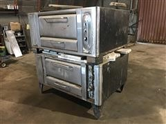 Commercial Natural Gas Double Brick Oven