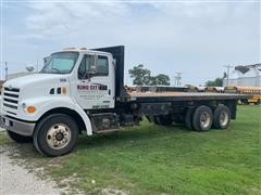 2001 Sterling Acterra 7500 T/A Flatbed Dump Truck