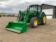 2009 John Deere 6430 Premium MFWD Tractor W/ Loader