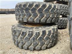 Michelin XADN+ 23.5R25 Radial Earthmoving Tires & 12-Bolt Steel Rims