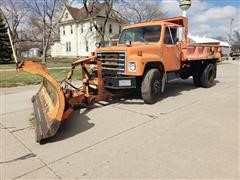 1983 International 1954 S/A Dump Truck W/Snow Pusher