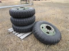 Armstrong 11.00-20 Military Tires Mounted On 10 Bolt Stud Pilot Bud Style Rims