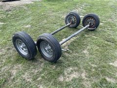 2017 Lippert Components 3500lbs Trailer Axles W/Wheels & Tires