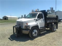 2006 GMC C7500 S/A Dump Truck w/ Snow Plow Included
