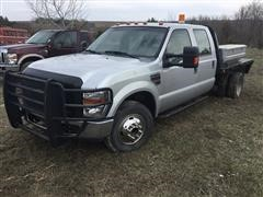 2008 Ford F350 Super Duty 2WD Crew Cab Flatbed Pickup (INOPERABLE)